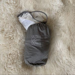 Brand New Uniqlo Ultra Light Down Light Grey Vest
